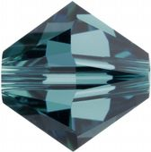 6mm SWAROVSKI® ELEMENTS Indicolite Xilion Beads - 25 crystals for jewellery making, beadwork and craft